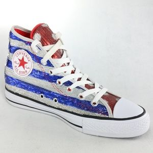 New Converse Chuck Taylor All Star Sequin Flag 4b17473af667
